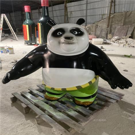 玻璃鋼熊貓雕塑