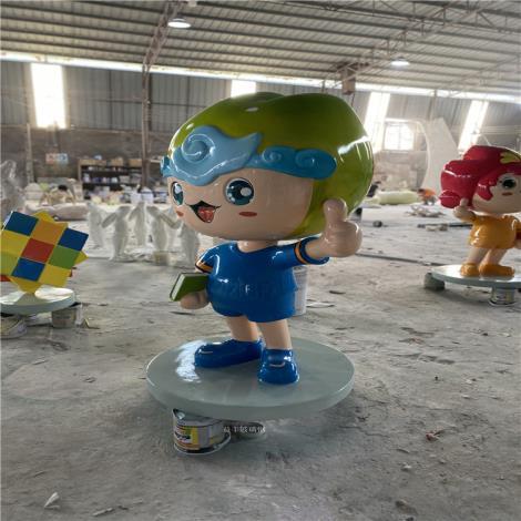 湖南玻璃鋼卡通雕塑新年美陳