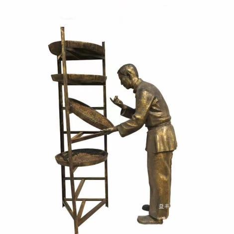 玻璃鋼主題人物雕塑 古銅人物雕塑 佛山玻璃鋼雕塑廠