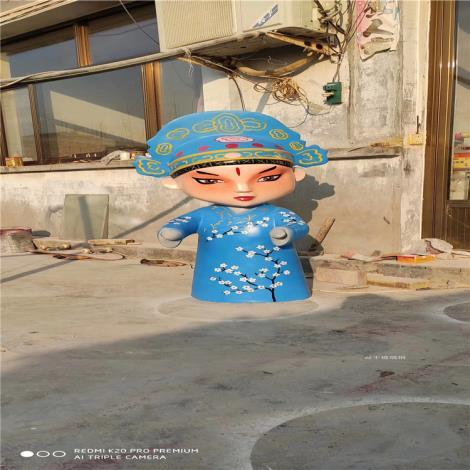 玻璃鋼美陳公仔雕塑 茂名卡通人物雕塑 玻璃鋼卡通雕塑廠