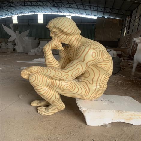 思想者雕塑 玻璃鋼人物雕塑 東莞玻璃鋼雕塑廠家