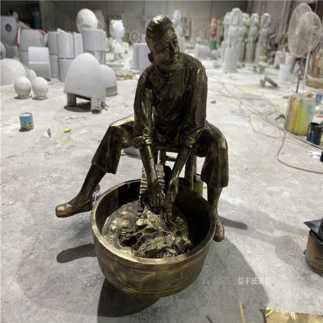 賀州玻璃鋼人物雕塑 仿銅人物雕塑 制作人物雕塑廠家