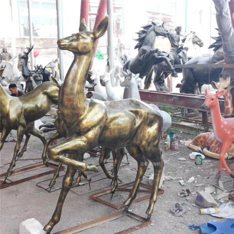 動物造型雕塑 廣場動物雕塑 益恒玻璃鋼動物雕塑公司