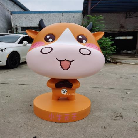 公園迎賓卡通雕塑 深圳玻璃鋼雕塑生產廠家