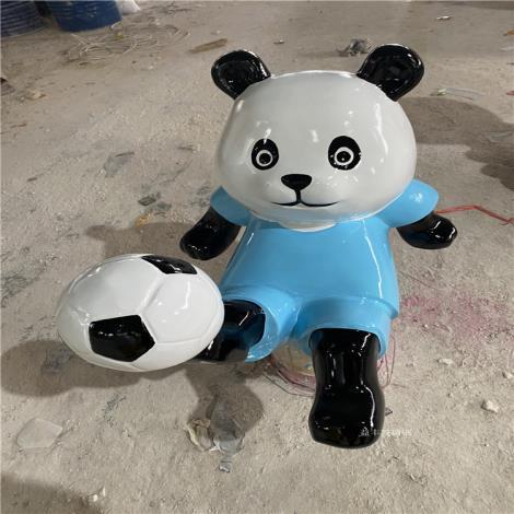 惠州卡通造型熊貓雕塑 花園主題熊貓展雕塑