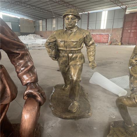 广州玻璃钢消防员雕塑