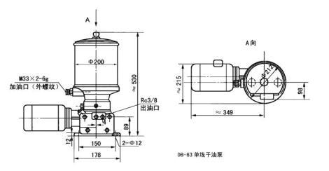 DB-63型单线干油泵及装置定制