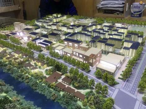 现代办公楼模型损划模型