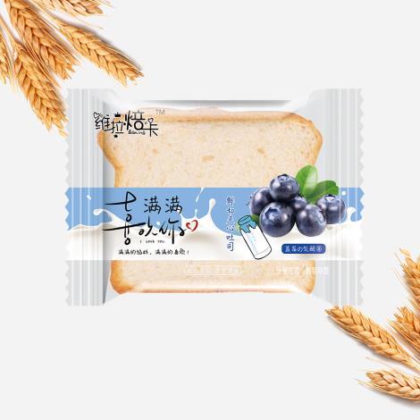 蓝莓乳酸菌吐司