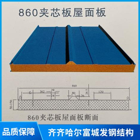 860型玻璃棉夾芯復合板