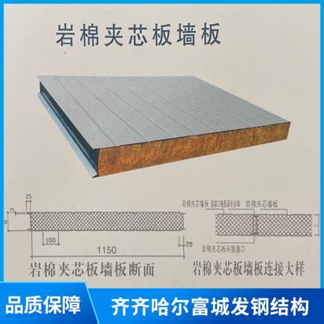 巖棉夾芯復合屋面板